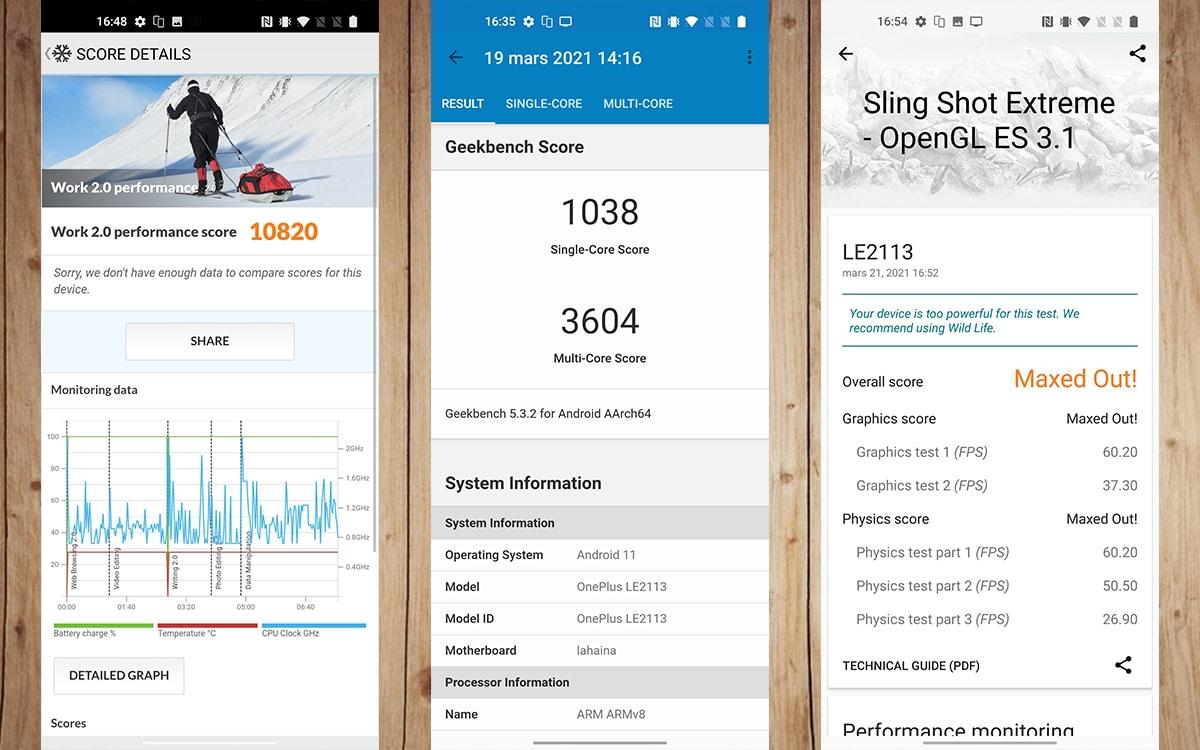 Test OnePlus 9 reglages affichage