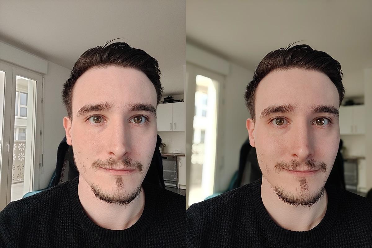 Test OnePlus 9 photo selfie et selfie mode portrait
