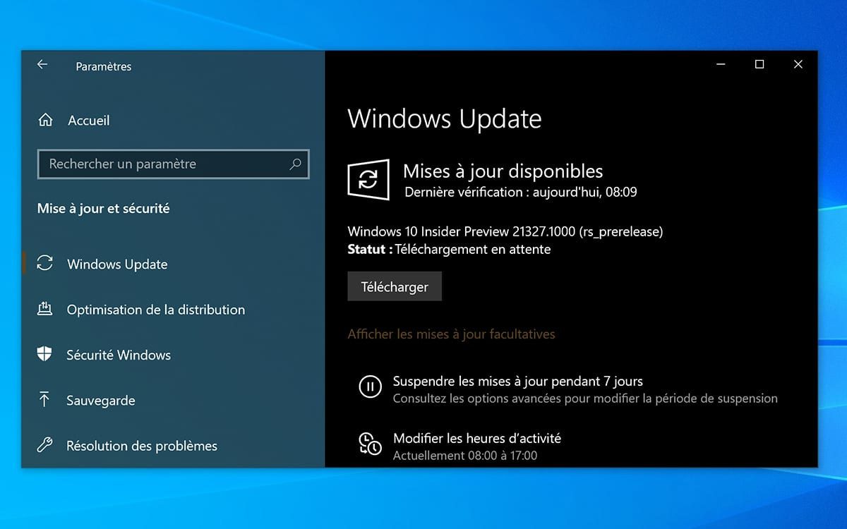 Windows 10 Telechargement Build 21327