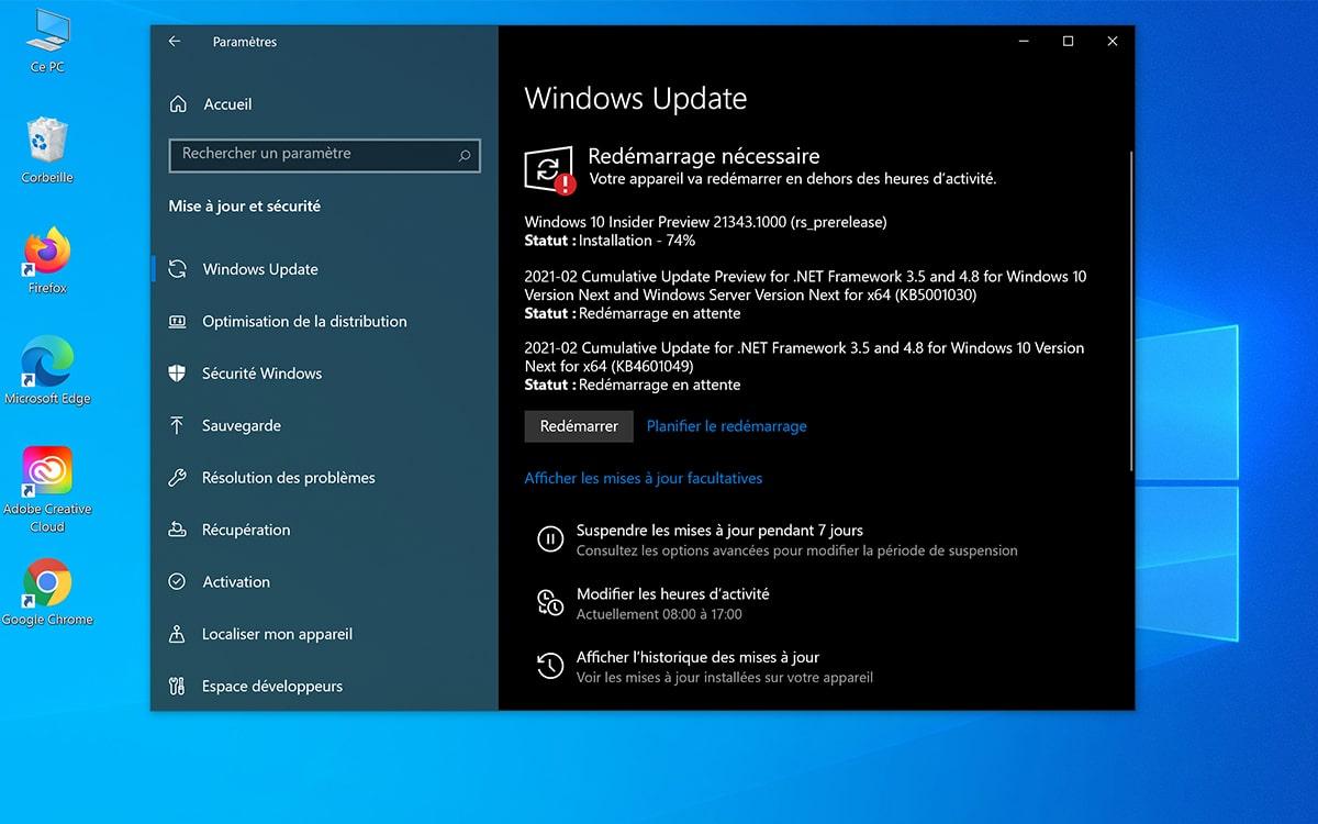 Windows 10 Telecharger Mise A Jour 21343