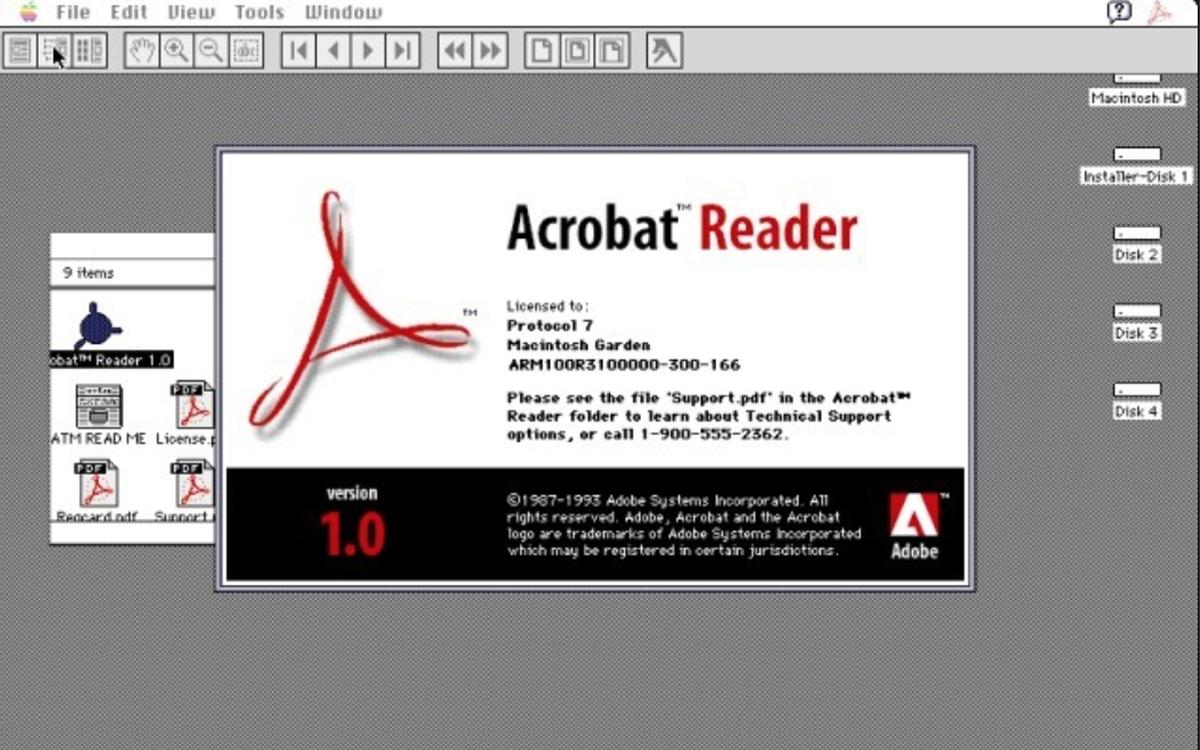acrobat reader 1993