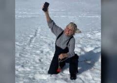 iphone11 perdu fond lac gelé