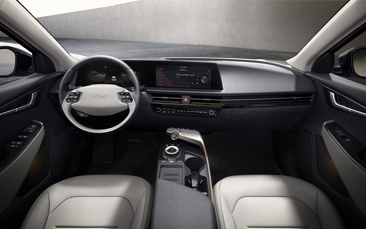 Kia EV6 intérieur volant