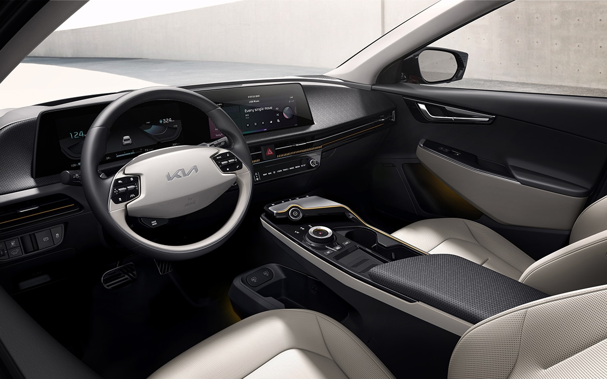 Kia EV6 intérieur finitions
