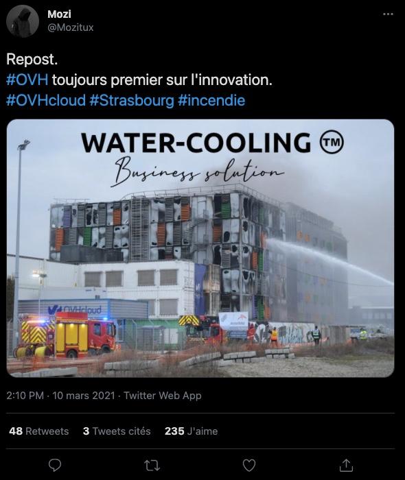 OVH incendie watercooling