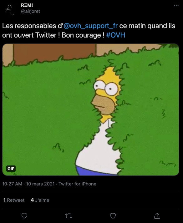 OVH incendie réactions Twitter