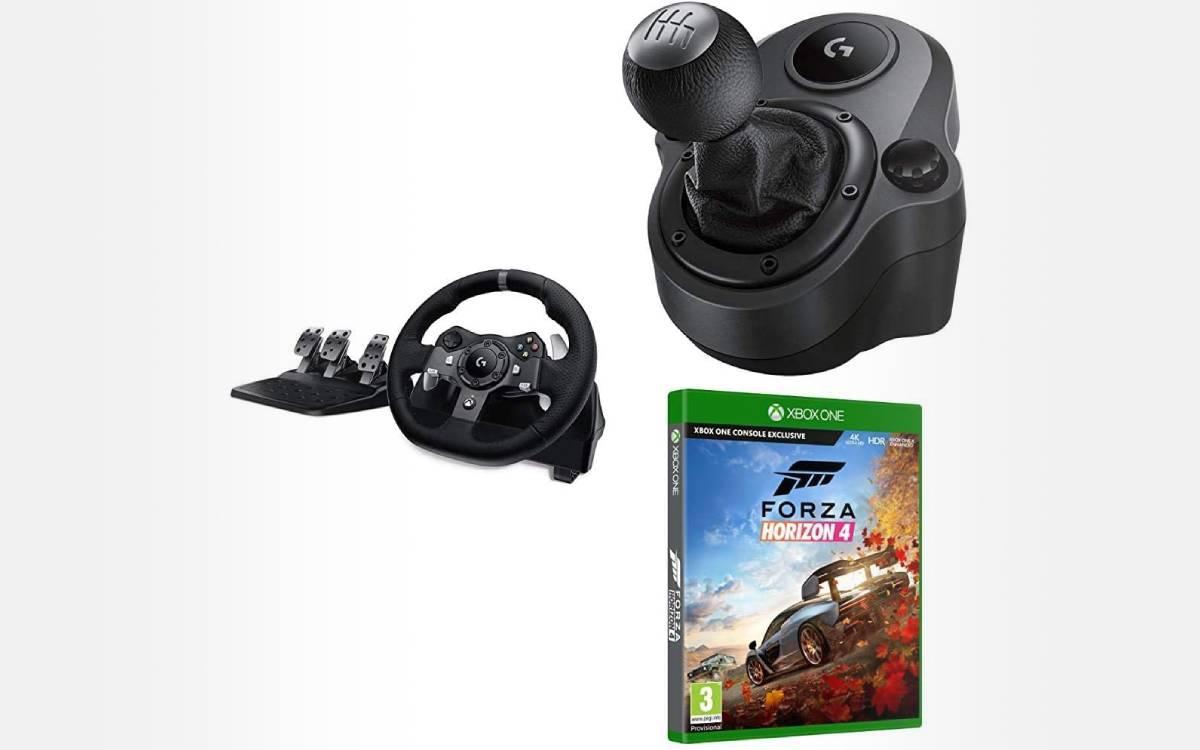 pack Logitech volant G920 Forza Horizon 4 Shifter pas cher