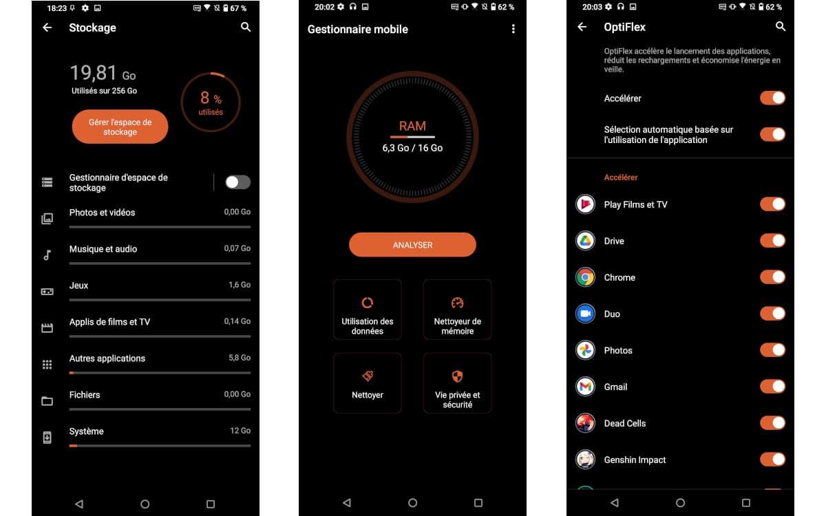 asus rog phone 5 interface 4 test