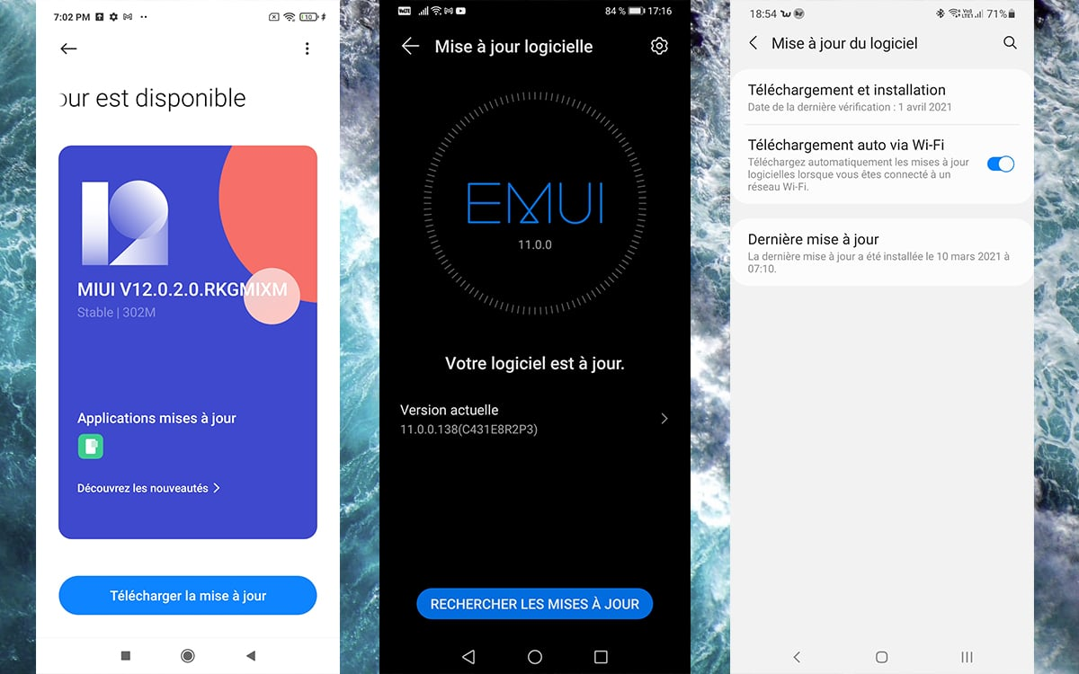 Android Mise a jour disponible
