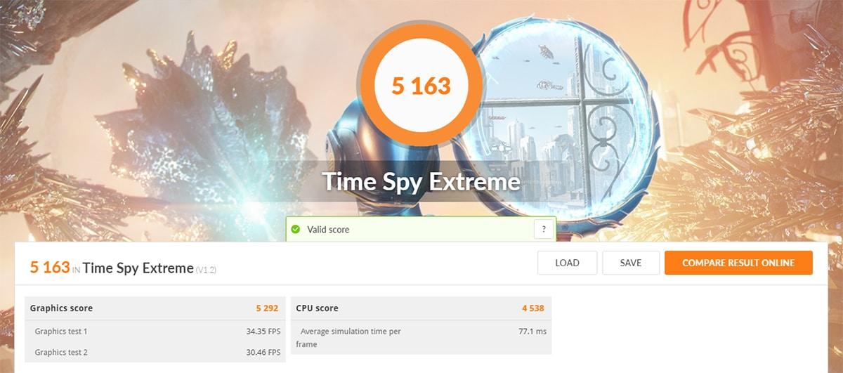 Asus Rog Strix Scar 17 Benchmark 3DMark Time Spy Extreme