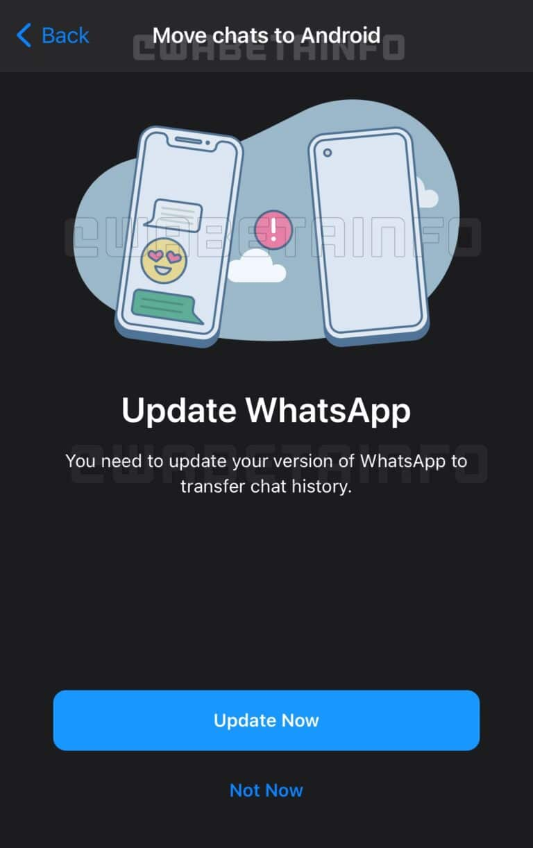 WhatsApp migration android ios