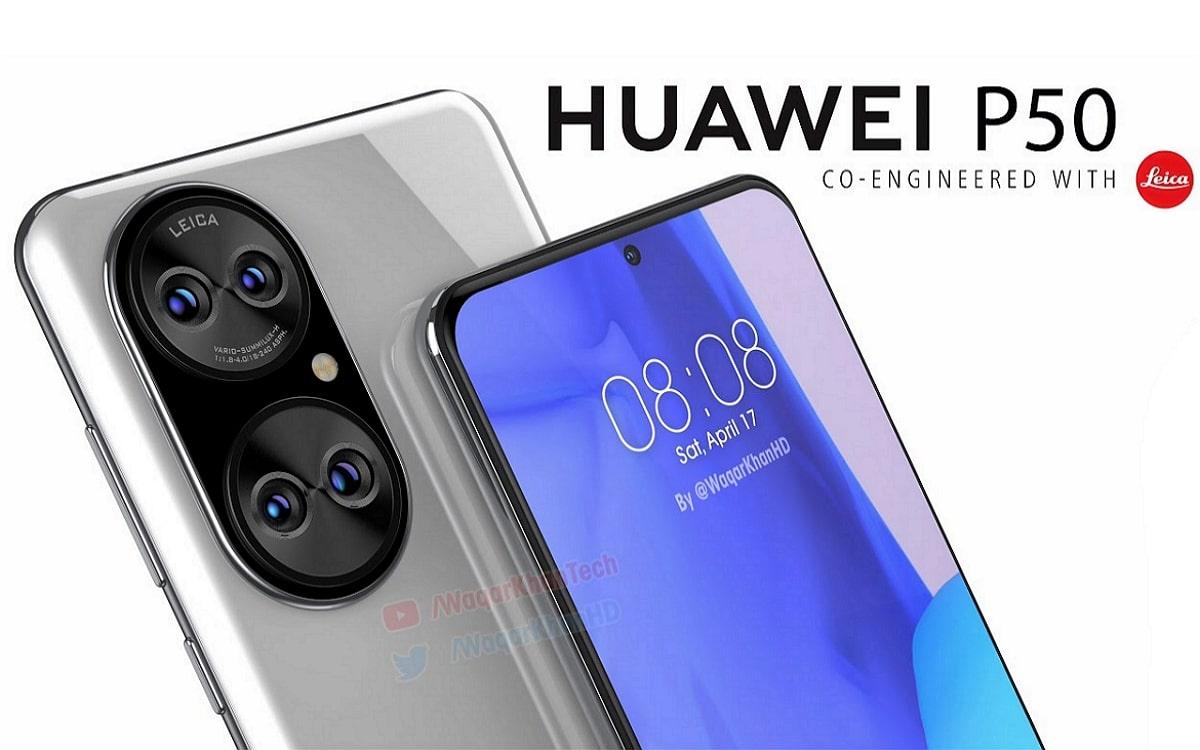 Huawei P50 rendu