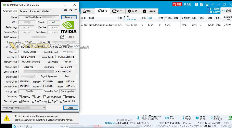 GeForce RTX 3080 Ti GPU-Z
