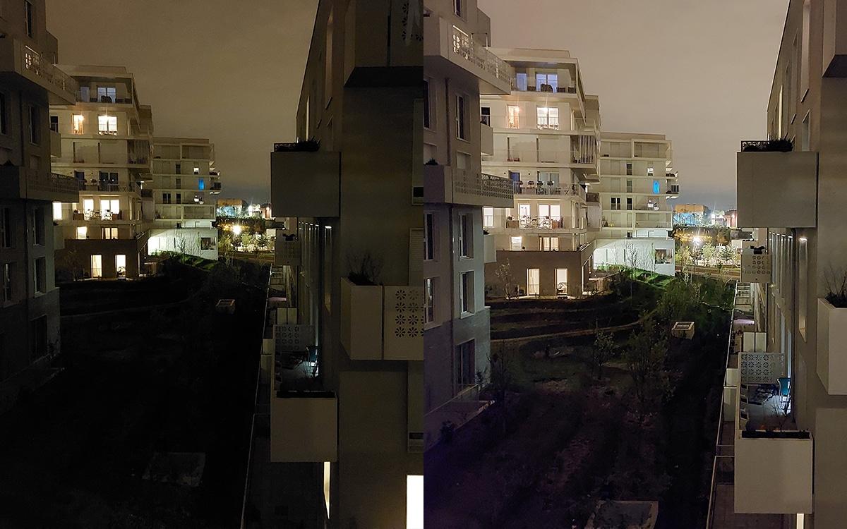Samsung Galaxy A52 Photo mode standard et mode nuit