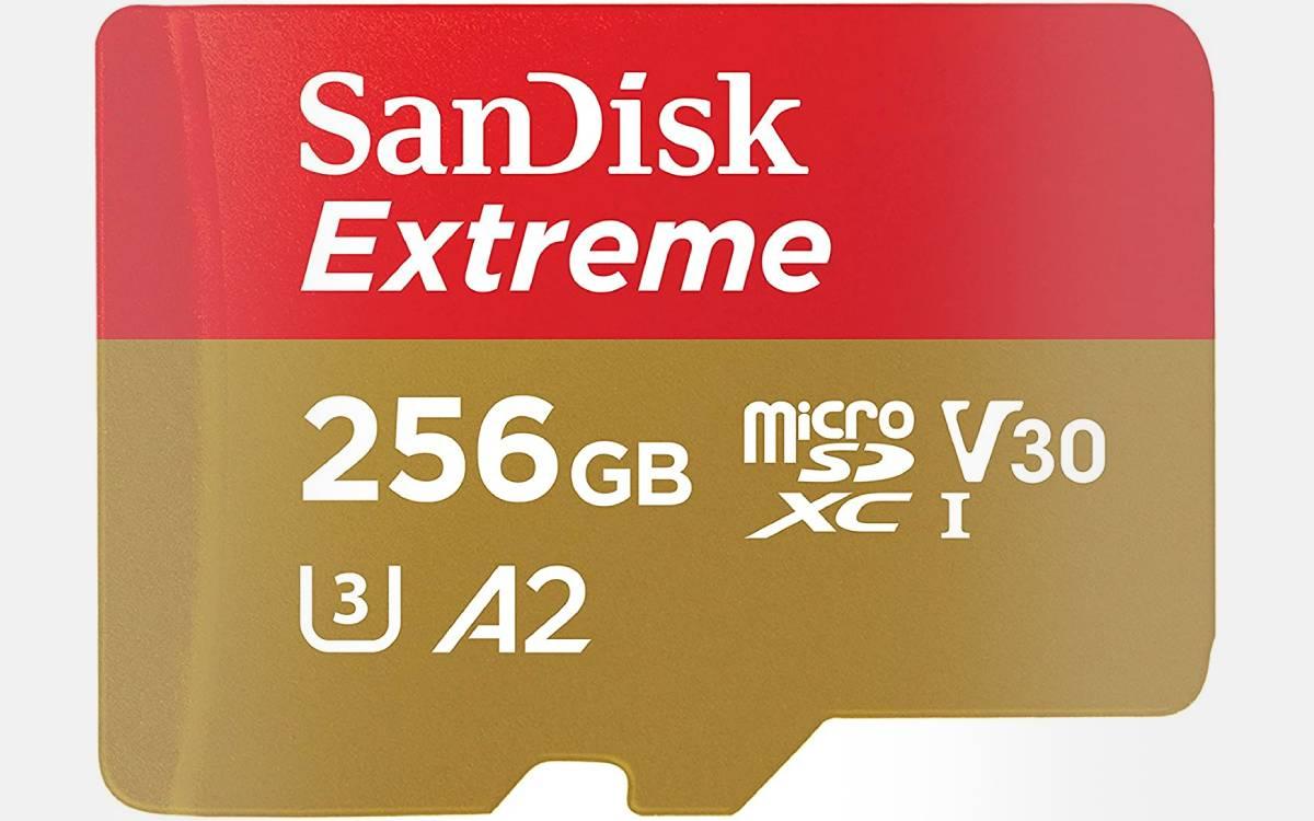 carte microSDXC SanDisk Extreme 256 Go en promotion