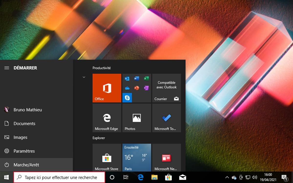 Windows 10 Menu Demarrer