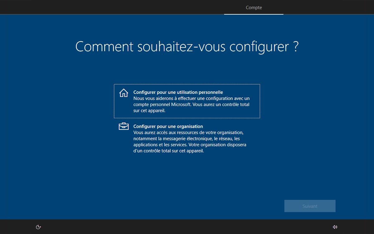 Windows 10 installation choix utilisation