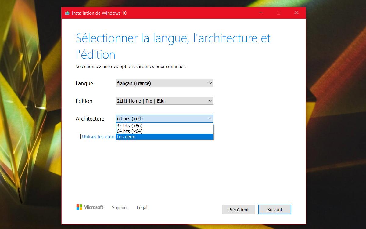 Windows 10 installation creation cle USB