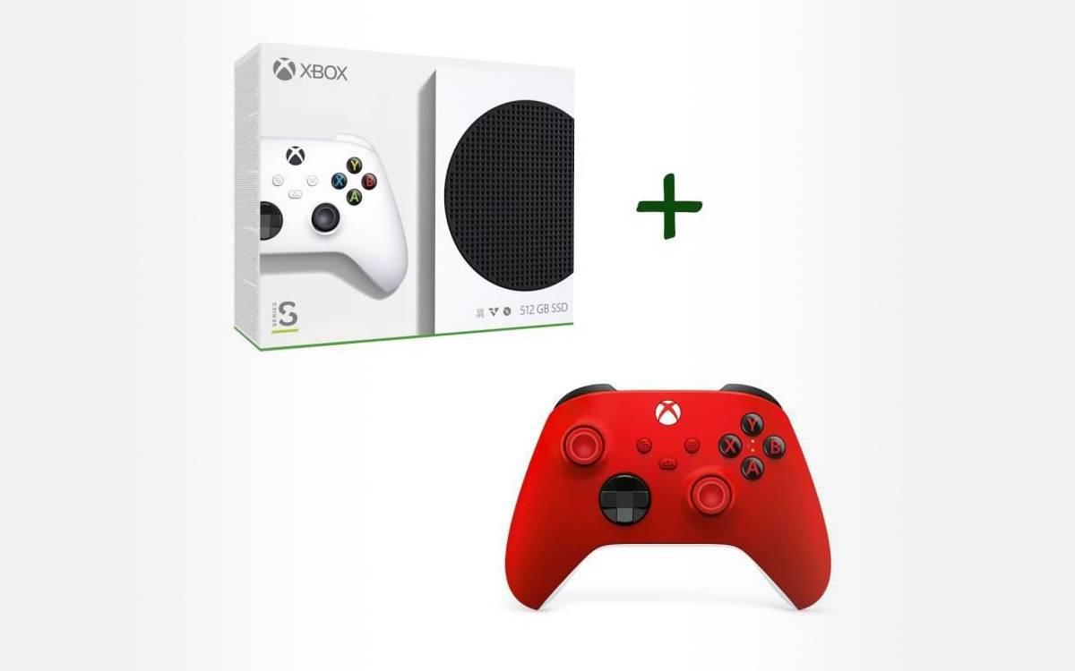 Xbox Series avec une 2ème manette rouge chez Cdiscount