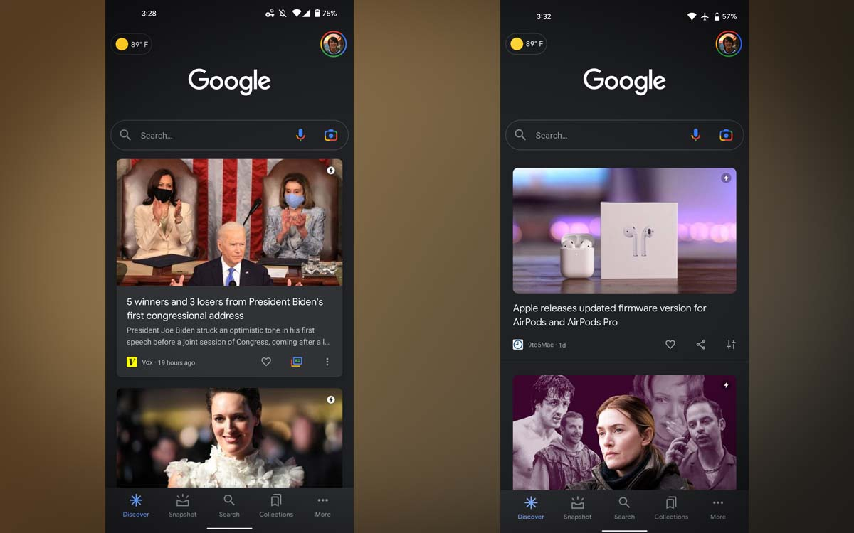 google discover android 12 - Google Discover adopts a more generic design, news is losing its hook