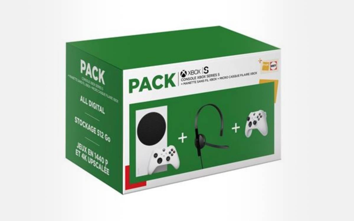 pack console Xbox Series S avec 2ème manette et micro-casque