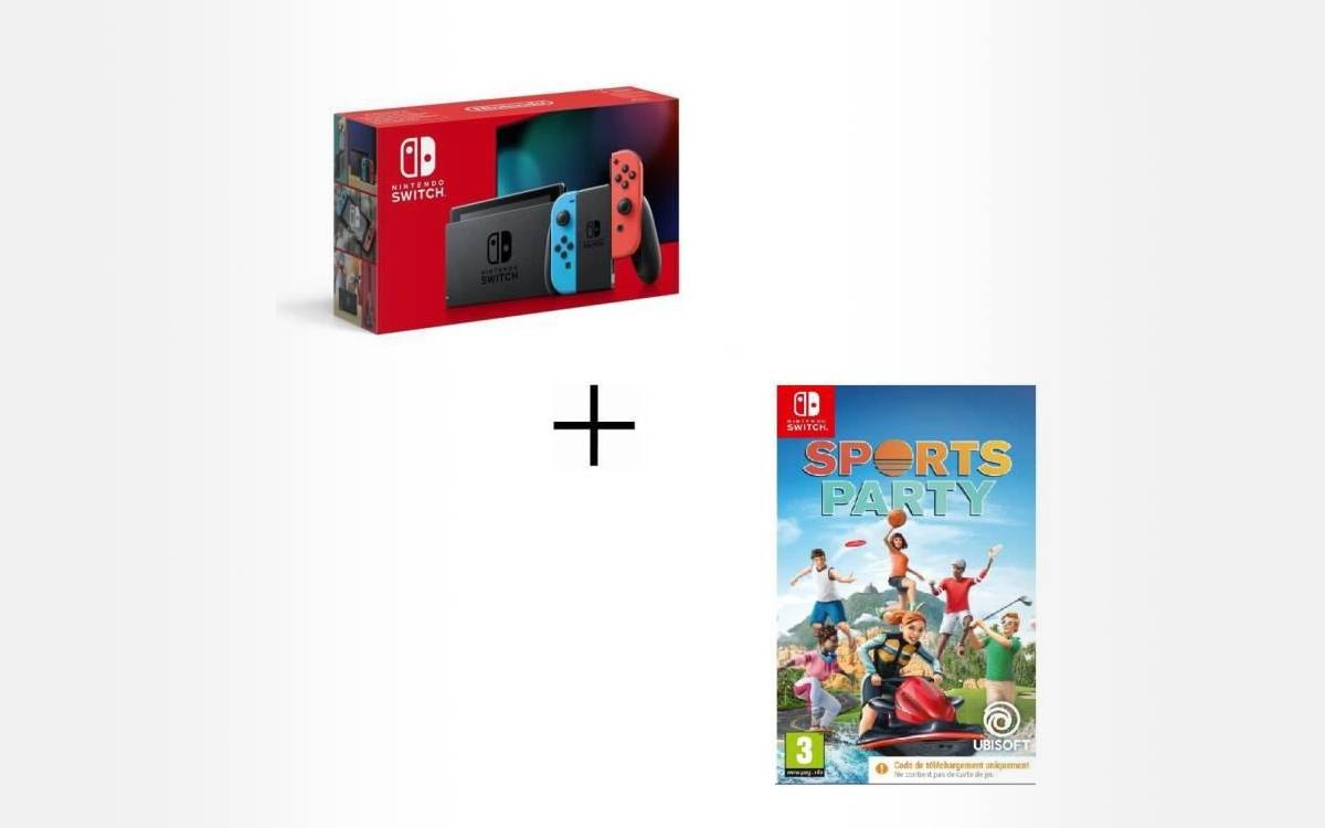 pack nintendo switch avec sports party