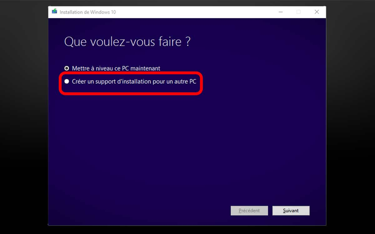Support Installation Windows 10