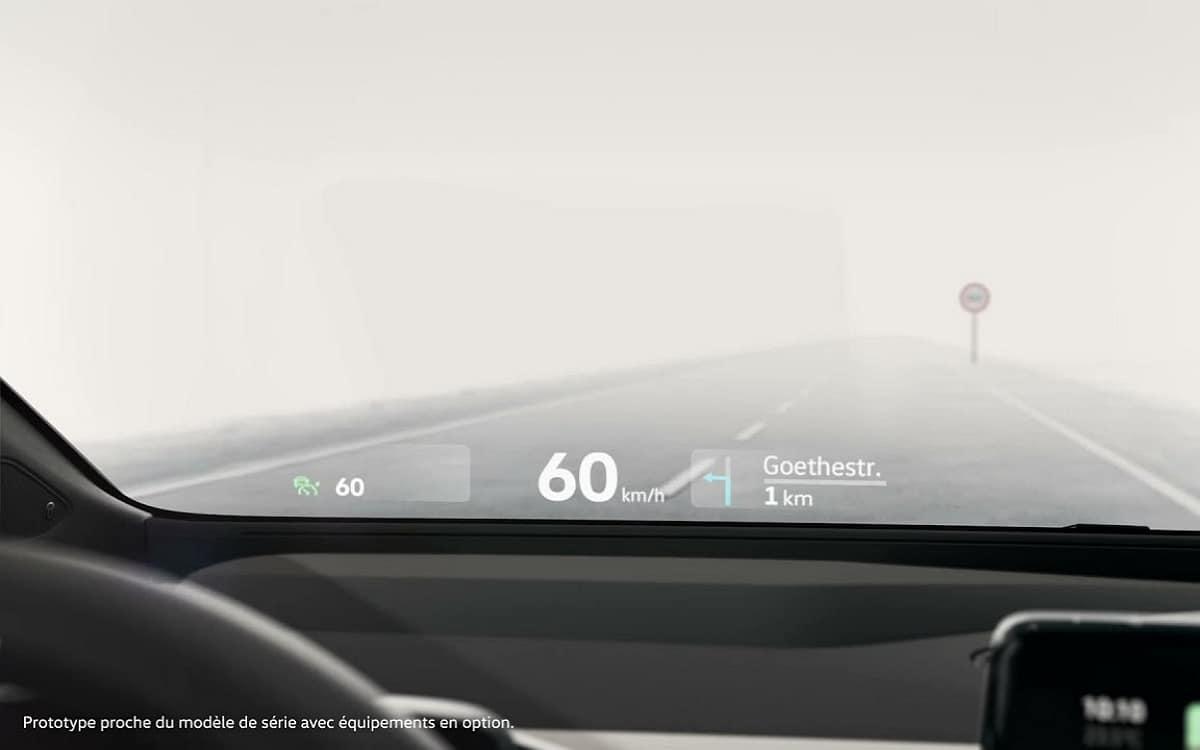 Affichage tête haute Volkswagen