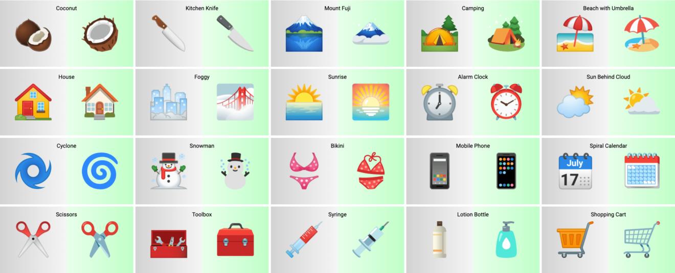 Android 12 emoji 2