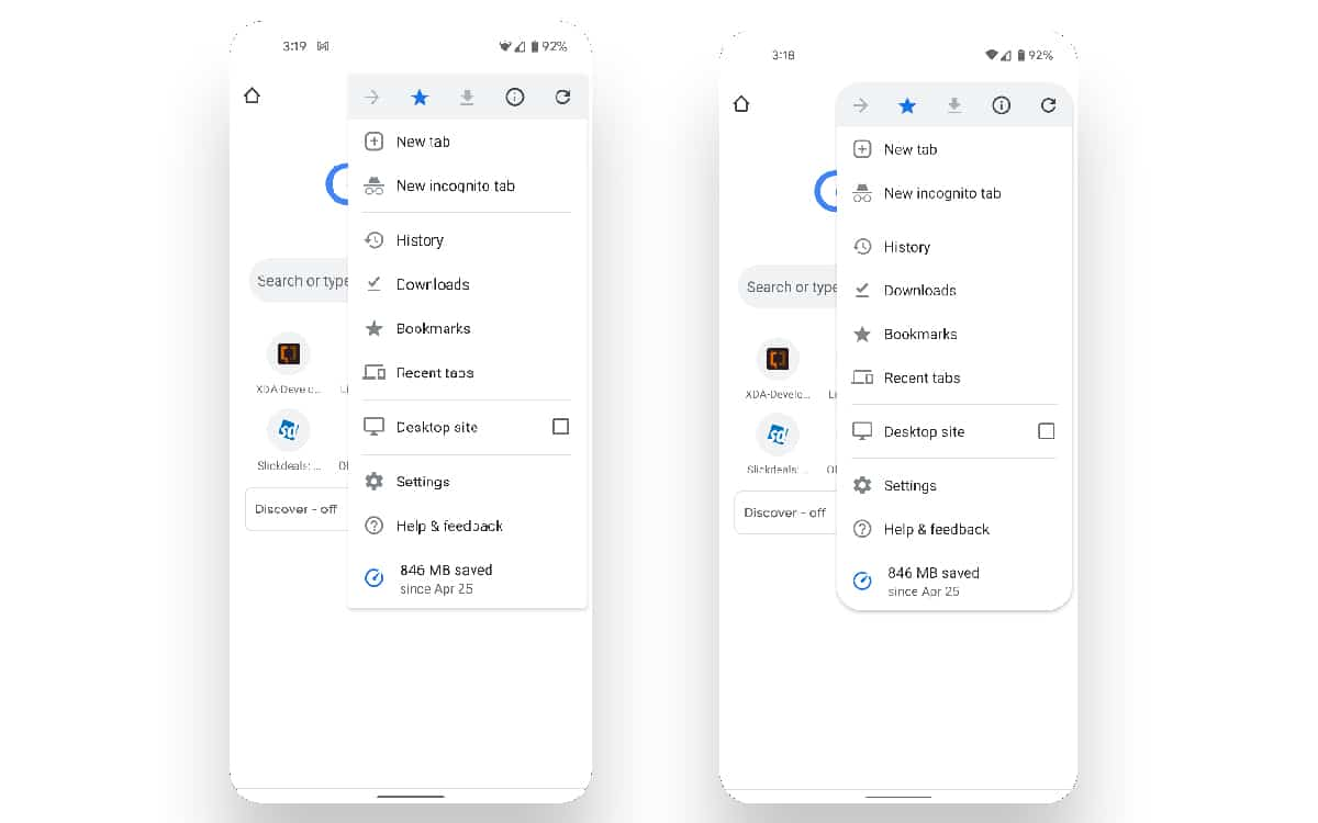 Chrome Android 12 Material You