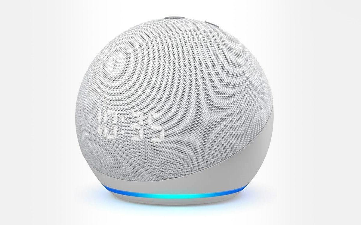 Echo Dot 4 avec horloge