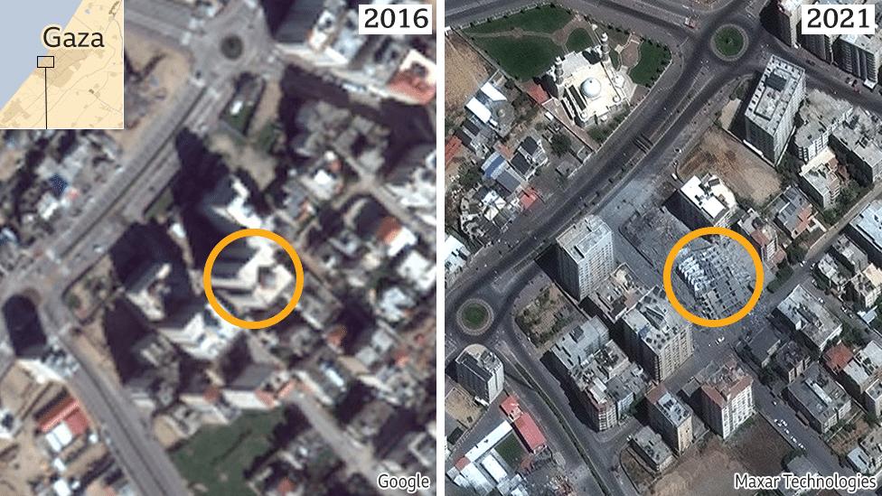 Google Maps di Gaza