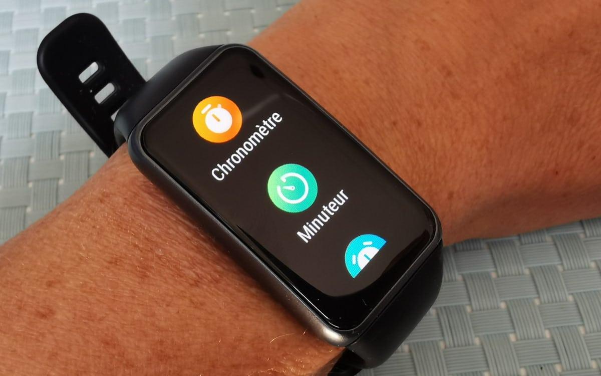 Huawei Band 6 menu montre