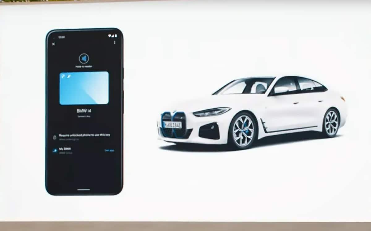 Android 12 clés de voiture BMW Ford