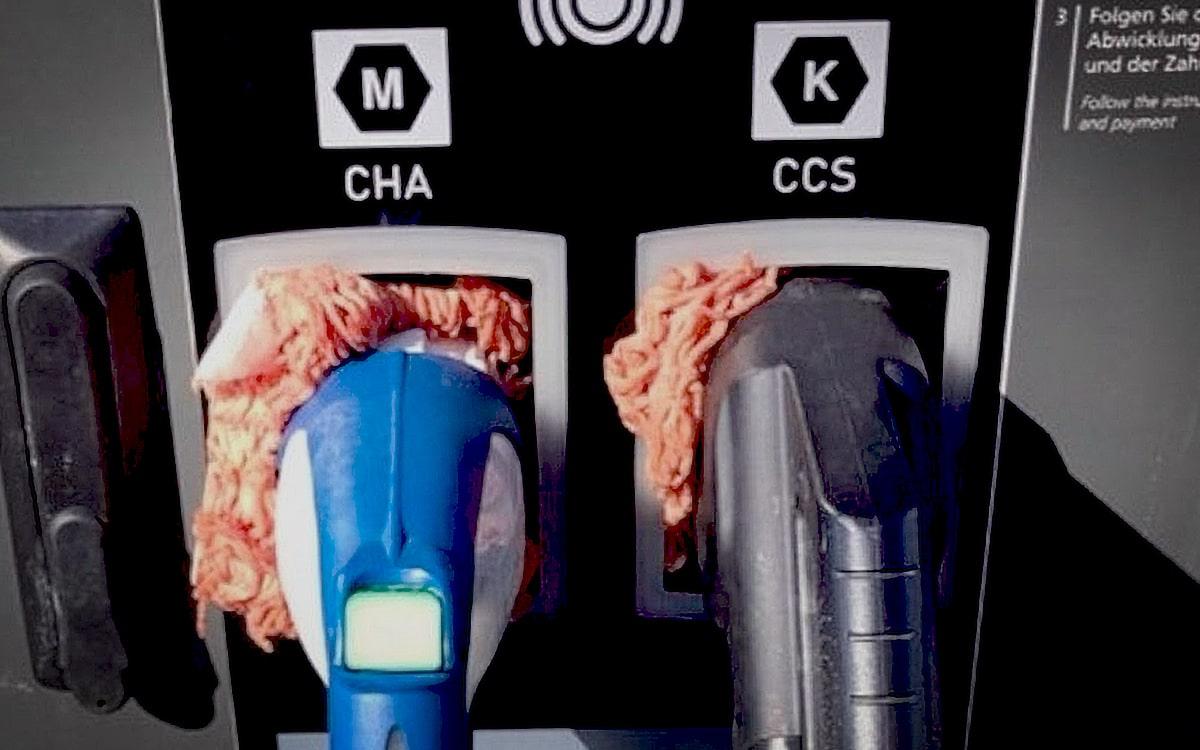 borne de charge voitures électriques viande