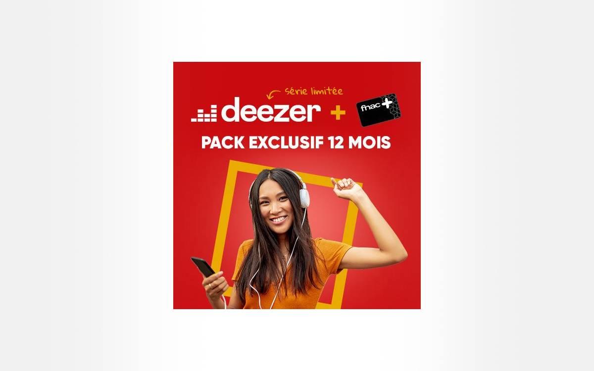 carte Fnac avec Deezer à 60 euros
