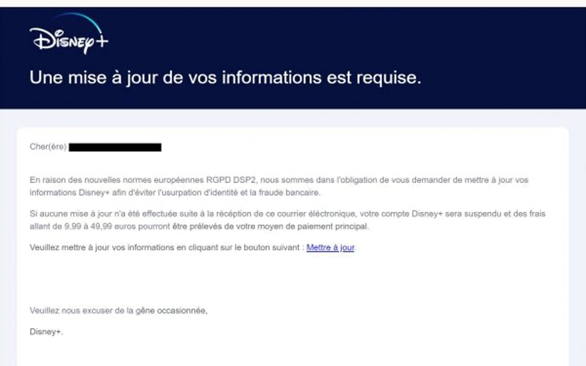 disneyplus phishing