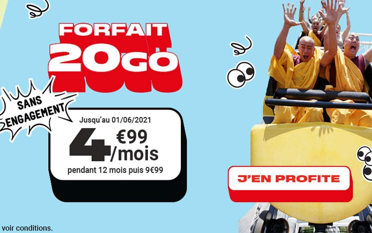 Bon plan Forfait NRJ Mobile French Days