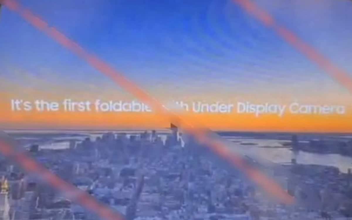 galaxy z fold 3 pliable selfie sous écran