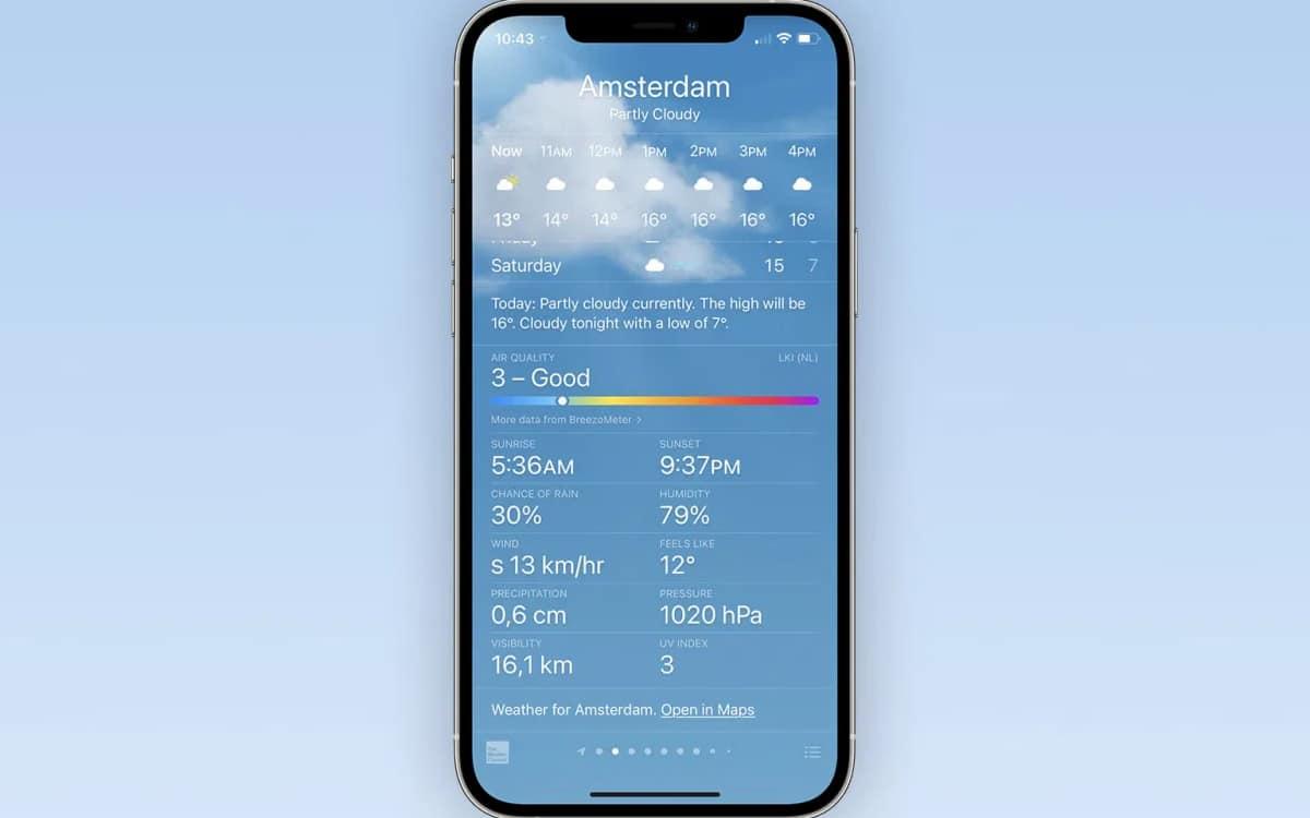 iphone mesure qualité air