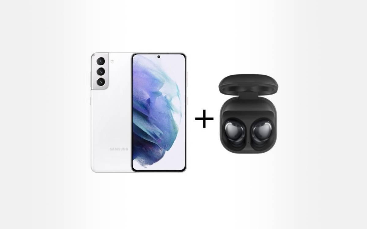 pack Samsung Galaxy S21 avec écouteurs Galaxy Buds Pro à prix réduit
