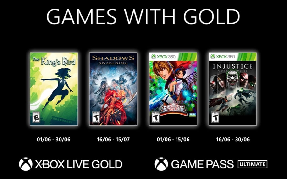 xbox games with gold jeux juin 2021