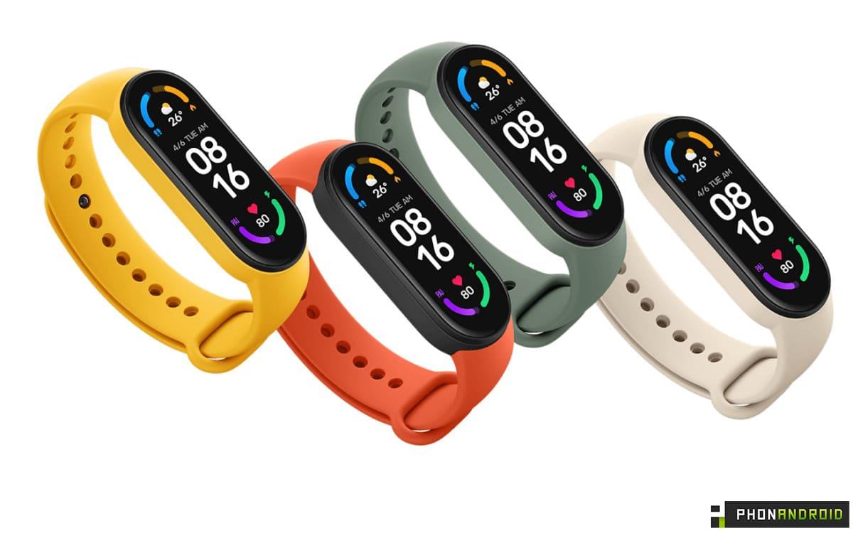 Xiaomi Mi Smart Band 6 colors