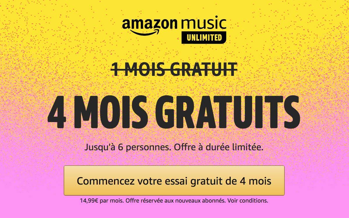 offre Amazon Music Unlimited Famille juin 2021