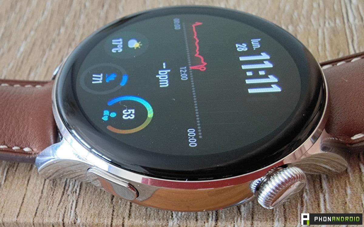 Huawei Watch 3 boutons