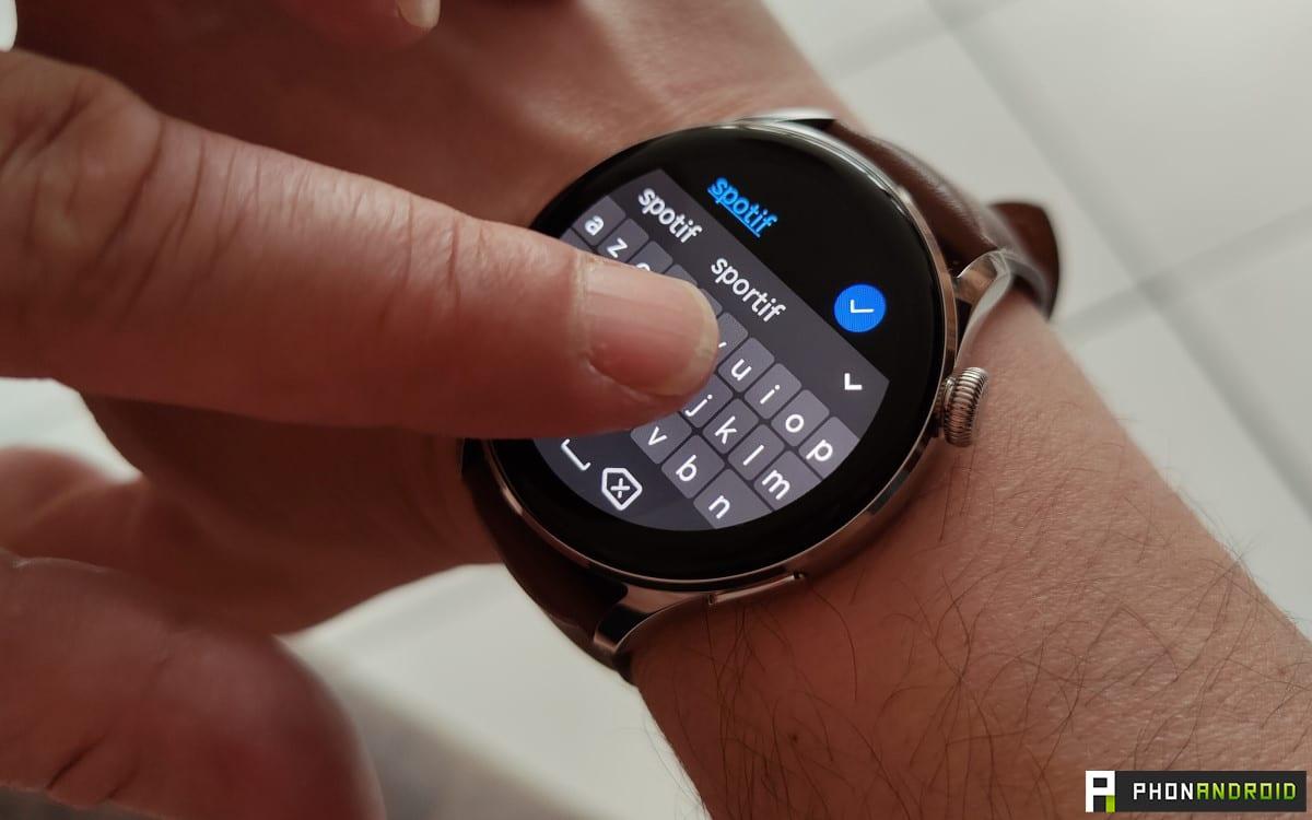 Huawei Watch 3 clavier