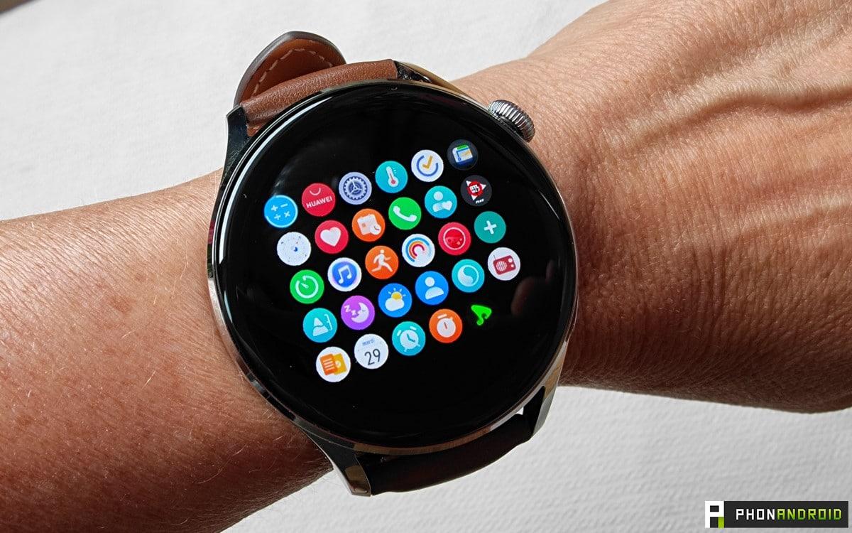 Huawei Watch 3 menu