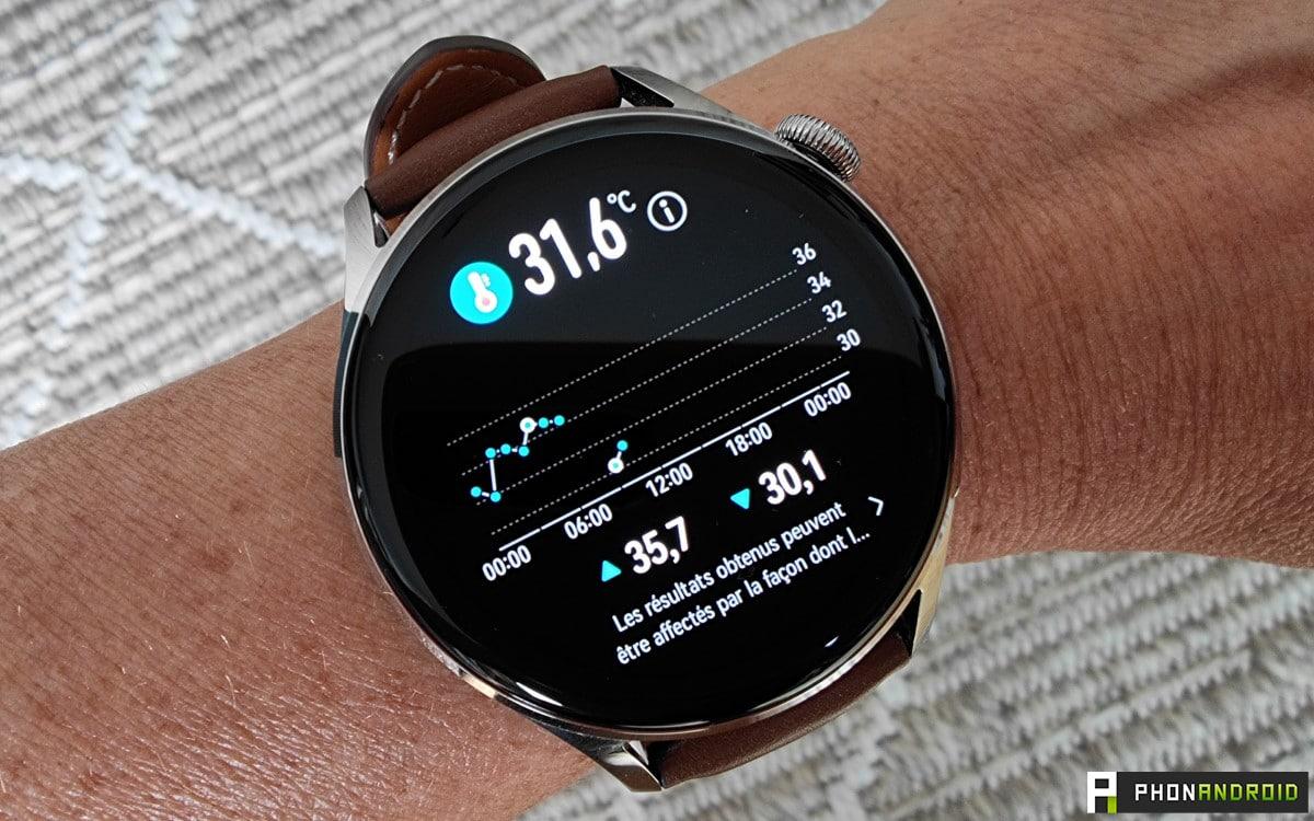 Huawei Watch 3 température