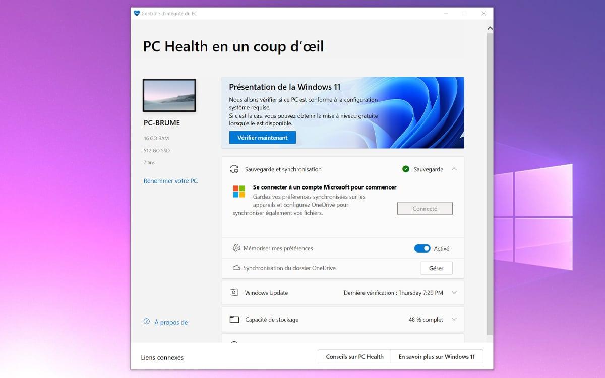 PC Health Check Windows 11