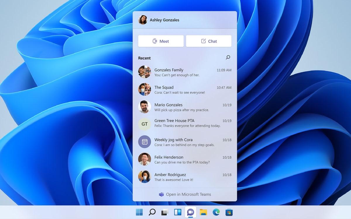 Windows 10 Chat Microsoft Teams
